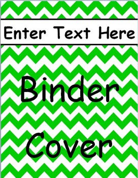Green Chevron Binder Cover