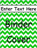 Green Chevron Binder Cover