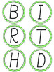 Green Chevron Birthday Board