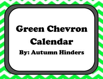 Green Chevron Calendar