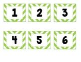 Green Chevron Calendar Labels