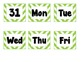Green Chevron Calendar Labels