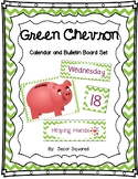 Green Chevron Calendar/Bulletin Board Set