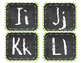 Green Chevron Chalk Alphabet