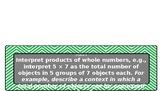 Green Chevron Common Core 3rd Grade Math Objectives Cards