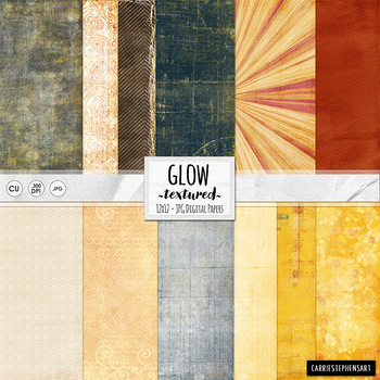 Glow Digital Papers, Yellow Digital Backgrounds, Bokeh Digital Paper, Burst, Sun