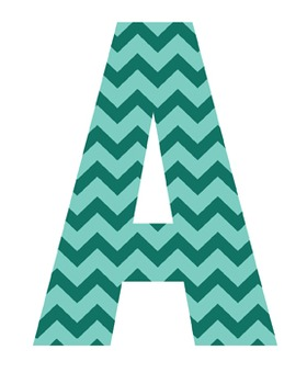 Green Chevron Letters