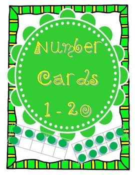 Green Chevron Number Posters 1 - 20