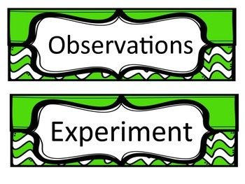 Green Chevron Science Fair Headings