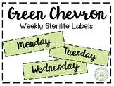 Green Chevron Sterilite Labels (3 Drawer)