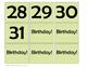 Green Chevron Wall Calendar Set- Days