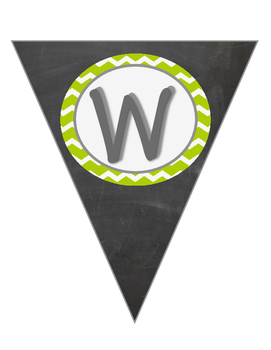 Green Chevron Welcome Banner