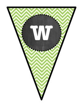 Green Chevron Welcome Pennant