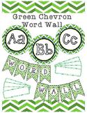 Green Chevron Word Wall