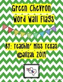 Green Chevron Word Wall Flags
