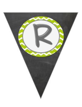 Green Chevron Writing Banner