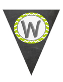 Green Chevron Writing Banner