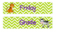 Green Chevron with Animal Drawer Labels