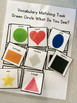 Green Circle Shape Vocabulary Folder Game for Early Childhood Special Education