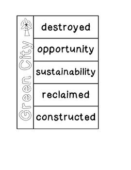 Pearson Green City Vocabulary Graphic Organizer