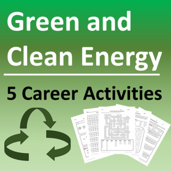 Green & Clean Energy Career Activities and Earth Day Packet