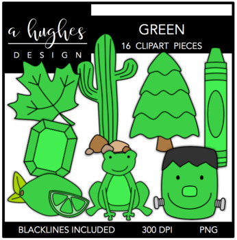 Green Color Clipart {A Hughes Design}