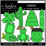 Green Color Clipart {A Hughes Design}
