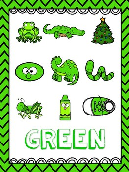 Green (Color) Emergent Reader and Teacher Book
