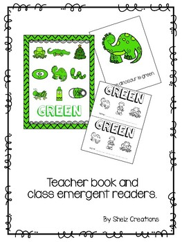 Green (Color) Emergent Reader and Teacher Book
