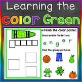 Green Color Recognition Color Word Boom Cards (Learning Co
