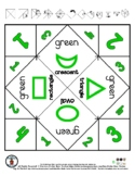 Green Color & Shapes - Cootie Catcher Fortune Teller - 1 pg *o
