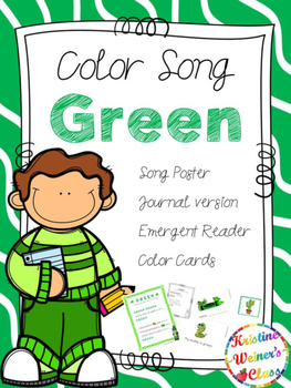 Green Color Song {A Mini-Unit}