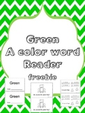 Green Color Word Reader - Freebie