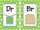 Green Consonant Blend Wall Cards