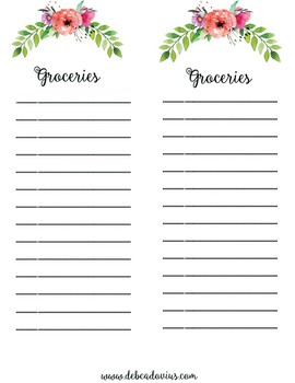 Green Coral Menu Planning Set