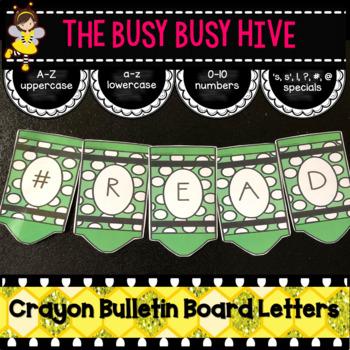 Green Crayon Bulletin Board Letters