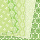 28 Green Damask Digital Paper patterns - ornate floral backgrounds