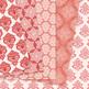 28 Red Damask Digital Paper patterns - ornate floral backgrounds