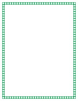 Green Diamond Border Set