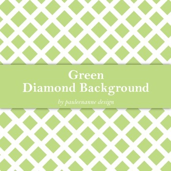 Green Diamond Pattern Background