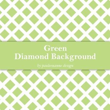 Green Diamond Pattern Background