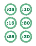 Green Digital Clock Labels