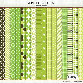 "Green Digital Paper - ""Apple Green"""