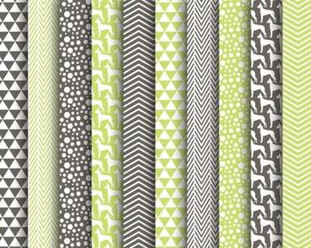 Green Dog Paper Set #021