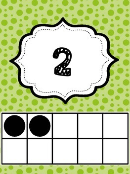 Green Dot Classroom 1-30 Ten Frames