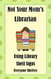 Green Dot Library Shelf Sign Collection