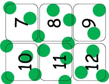 Green Dot Number Line cards 1-120