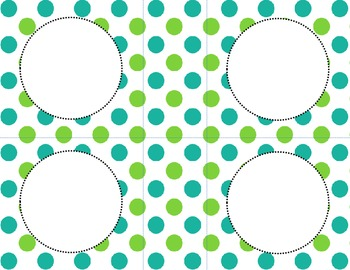 Green Dots Classroom Labels and Tags