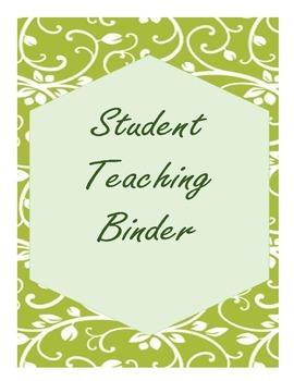 Green Dream Student Teaching Binder Pack