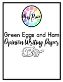 Green Egg and Ham Opinion Writing